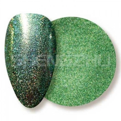 Oil based solvent resistant laser apple-green sequin nails glitters
