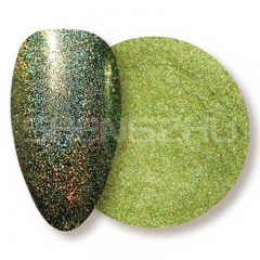 Oil based solvent resistant laser yellow-green sequin nails glitters