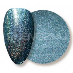 Oil based solvent resistant laser blue-green sequin nails glitters