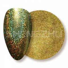 Oil based solvent resistant laser gold sequin nails glitters