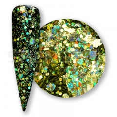 Yellow green  Solvent resistant laser glitter sequin