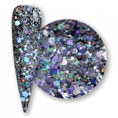 Bright silver  Solvent resistant laser glitter sequin
