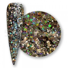 Light copper  Solvent resistant laser glitter sequin